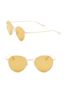 Oliver Peoples Brownstone 2 49MM Mirrored Round Sunglasses