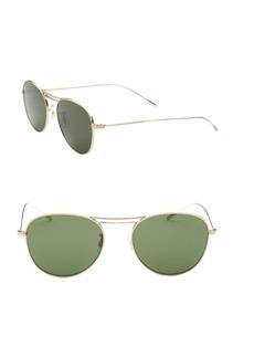 Oliver Peoples Cade 52mm Aviator Sunglasses