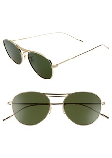 Oliver Peoples Cade 52mm Mirror Lens Aviator Sunglasses