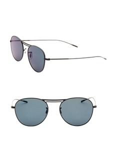 Oliver Peoples Cade 52MM Mirrored Aviator Sunglasses