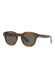 Oliver Peoples Cary Grant Oval Polarized Acetate Sunglasses