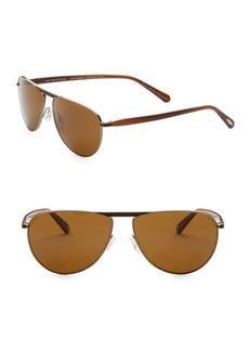 Oliver Peoples Conduit 59MM Aviator Sunglasses