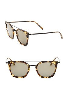 Oliver Peoples Dacette 50MM Mirrored Square Sunglasses