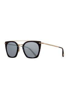 Oliver Peoples Dacette Mirrored Cat-Eye Sunglasses