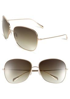 Oliver Peoples Elsie 64mm Oversize Metal Sunglasses