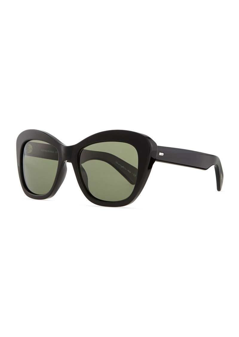 Oliver Peoples Emmy Plastic Square Polarized Sunglasses