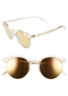 Oliver Peoples Ezelle 51mm Retro Sunglasses