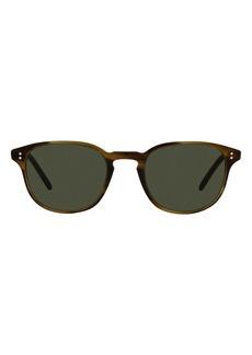 Oliver Peoples Fairmont 49mm Rectangular Sunglasses