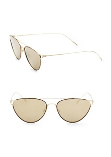 Oliver Peoples Floriana 56MM Mirrored Cat Eye Sunglasses