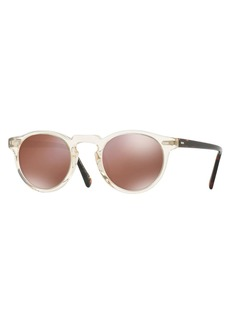 Oliver Peoples Gregory Peck 47 Limited Edition Mirrored Sunglasses