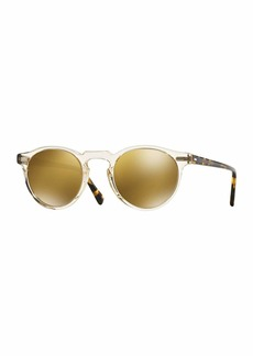 Oliver Peoples Gregory Peck 47 Round Sunglasses