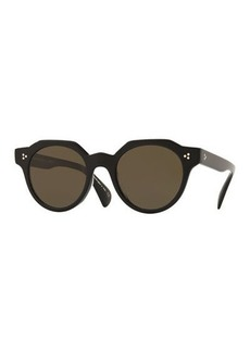 Oliver Peoples Irven Faceted Round Acetate Sunglasses