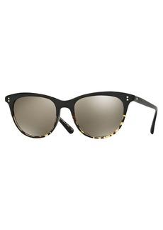 Oliver Peoples Jardinette Mirrored Square Sunglasses