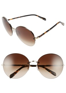 Oliver Peoples Jorie 62mm Semi Rimless Sunglasses