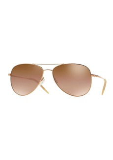 Oliver Peoples Kannon Mirrored Aviator Sunglasses