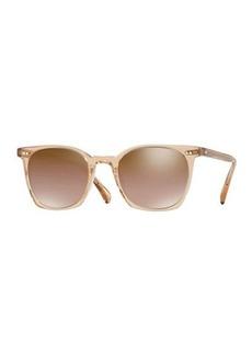 Oliver Peoples La Coen Mirrored Square Sunglasses