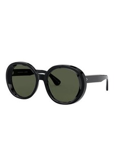 Oliver Peoples Leidy Round Acetate Sunglasses