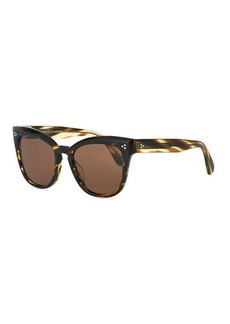 Oliver Peoples Marianela Rounded Acetate Butterfly Sunglasses
