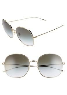 Oliver Peoples Mehrie 57mm Gradient Round Sunglasses