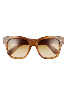 Oliver Peoples Melery 54mm Polarized Square Sunglasses
