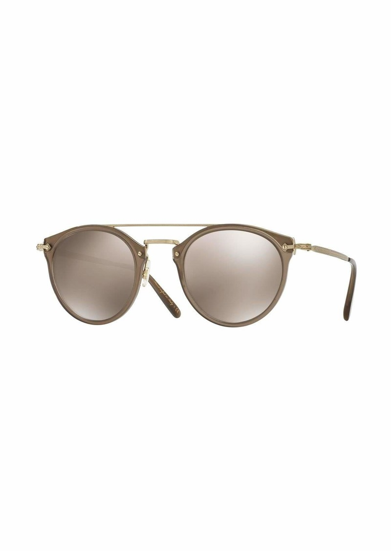 66bb3a06547 Oliver Peoples Men s Remick Mirrored Brow-Bar Sunglasses