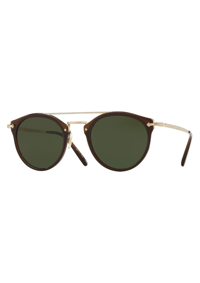 55da498746f Oliver Peoples Men s Row Remick Round Metal Acetate Sunglasses ...