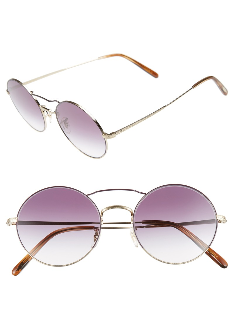 2c24b420642 Oliver Peoples Oliver Peoples Nickol 53mm Round Sunglasses