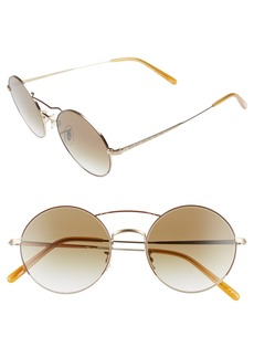 Oliver Peoples Nickol 53mm Round Sunglasses