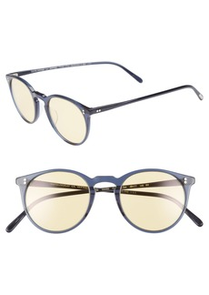 Oliver Peoples O'Malley 48mm Round Sunglasses
