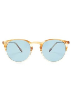 Oliver Peoples O'Malley round acetate sunglasses