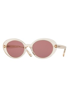 Oliver Peoples Parquet Monochromatic Oval Sunglasses
