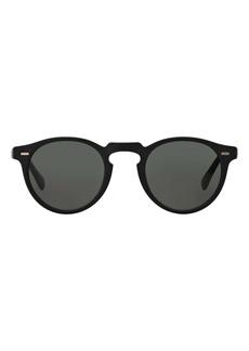 Oliver Peoples Phantos 50mm Polarized Round Sunglasses