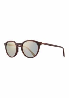 Oliver Peoples Rue Marbeuf 52 Round Acetate Sunglasses