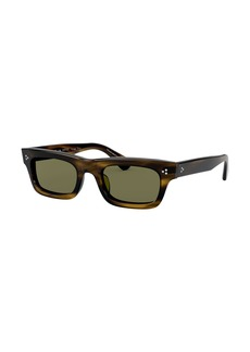 Oliver Peoples Rectangle Acetate Sunglasses