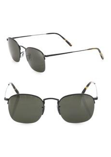 Oliver Peoples Rickman 51MM Semi-Rimless Sunglasses