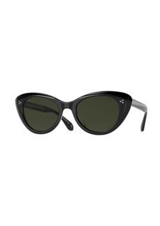 Oliver Peoples Rishell Acetate Cat-Eye Polarized Sunglasses