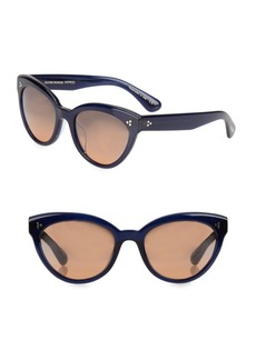 Oliver Peoples Roella 55MM Mirrored Cat Eye Sunglasses