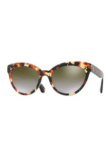 Oliver Peoples Roella Mirrored Cat-Eye Sunglasses