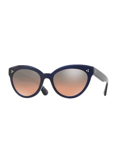 Oliver Peoples Roella Mirrored Cat-Eye Sunglasses  Blue