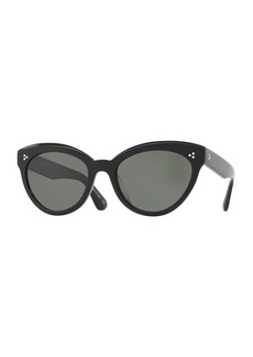 Oliver Peoples Roella Polarized Cat-Eye Sunglasses  Black