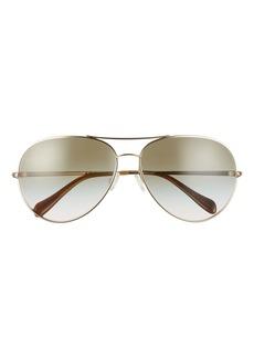 Oliver Peoples Sayer 63mm Oversize Gradient Aviator Sunglasses