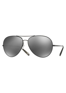 Oliver Peoples Sayer Mirrored Aviator Sunglasses