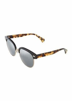 Oliver Peoples Shaelie 55 Mirrored Semi-Rimless Sunglasses