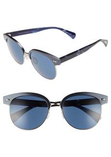 Oliver Peoples Shaelie 55mm Mirrored Semi-Rim Sunglasses