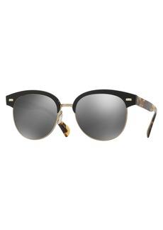 Oliver Peoples Shaelie Mirrored Semi-Rimless Sunglasses