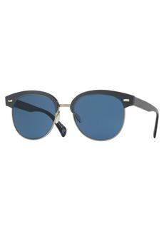 Oliver Peoples Shaelie Monochromatic Semi-Rimless Sunglasses