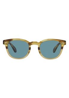 Oliver Peoples Sheldrake Phantos 49mm Round Sunglasses