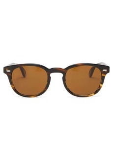 Oliver Peoples Sheldrake round acetate sunglasses