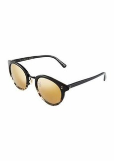 Oliver Peoples Spelman 50 Round Cateye Acetate/Metal Sunglasses
