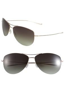 Oliver Peoples 'Strummer' 63mm Metal Aviator Sunglasses
